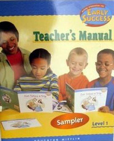 9780618249442: Houghton Mifflin Early Success: Teacher's Manual, Level 1