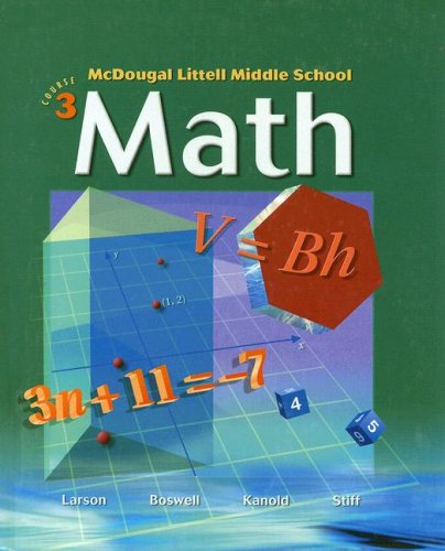 9780618250004: McDougal Littell Middle School Math, Course 3: Student Edition © 2004 2004