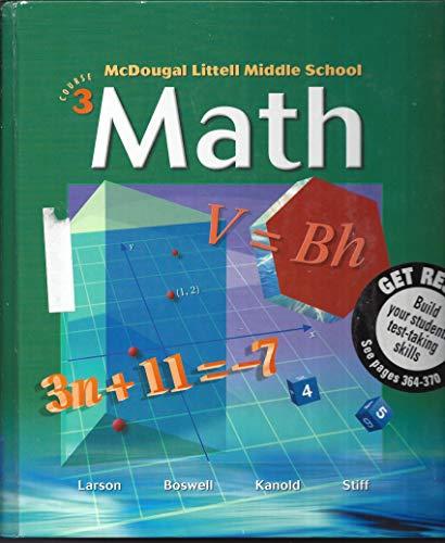 9780618250028: McDougal Littell Middle School Math, Course 3, Teacher's Edition