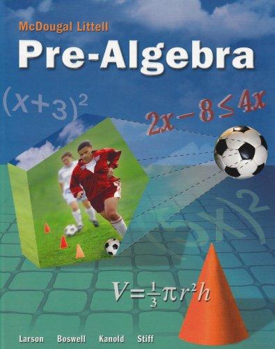 9780618250035: McDougal Littell Middle School Math: Student Edition Pre-Algebra 2005