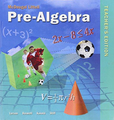 9780618250042: Pre-Algebra, Teacher's Edition