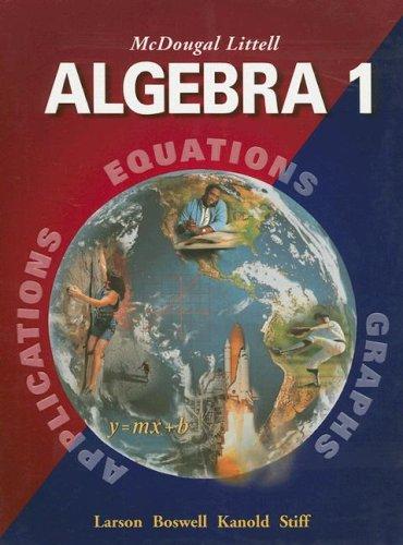 9780618250189: McDougal Littell Algebra 1: Student Edition (C) 2004 2004