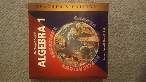 9780618250196: McDougal Littell Algebra 1: Applications, Equations, Graphs, Teacher's Edition