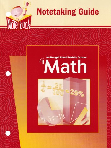 Math: Notetaking Guide Course 1 [Paperback] by: Ron Larson; Boswell;