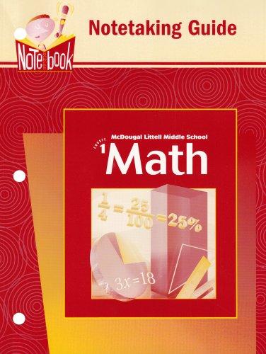 9780618250356: McDougal Littell Middle School Math: Notetaking Guide Course 1