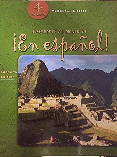 9780618250660: !En Espanol! Teacher's Edition [4 Cuatro]