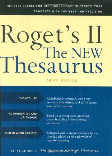 Houghton Mifflin Roget's II: The New Thesaurus,: Editor-Editors of the