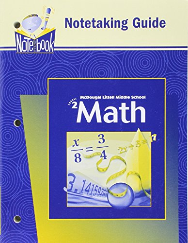 McDougal Littell Middle School Math: Notetaking Guide (Student) Course 2: Larson, Boswell, Kanold, ...