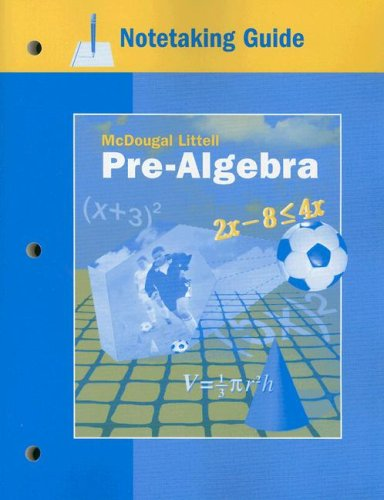 9780618256570: McDougal Littell Pre-Algebra: Notetaking Guide