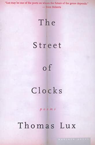 9780618257508: The Street of Clocks: Poems