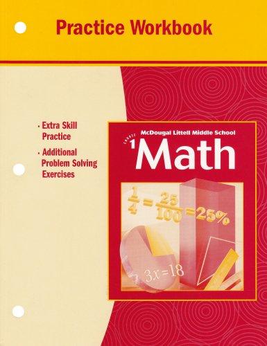 9780618257546: Middle School Math, Course 1: Practice Workbook