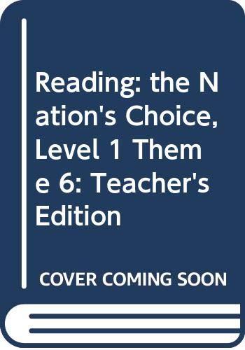 9780618258949: Houghton Mifflin Reading: The Nation's Choice: Teacher's Edition Level 1 Thm 6 2003
