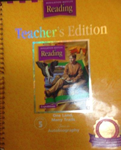 9780618259212: Houghton Mifflin Reading, Teacher's Edition, One Land, Many Trails (Grade 5, Theme 5)