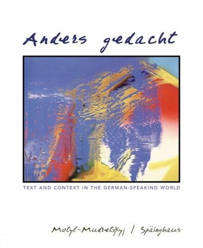 9780618259830: Anders Gedacht: Text and Context in the German-Speaking World