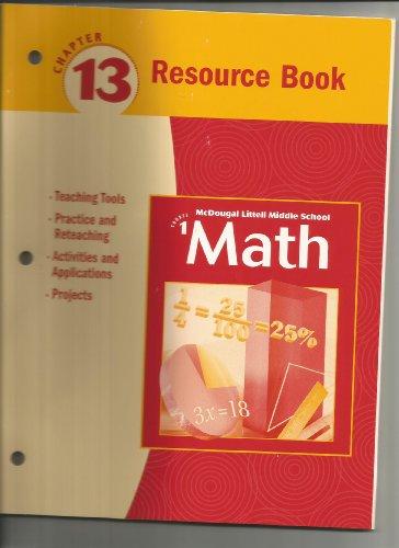 9780618260966: McDougal Littell Middle School Math, Course 1: Resource Book Chapter 13