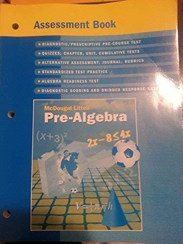 9780618261024: Pre-Algebra Assessment Book