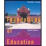 Foundations Of Education With Upgrade Cd-rom Eighth: Ornstein, Allan C.;