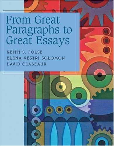 9780618265374: From Great Paragraphs to Great Essays