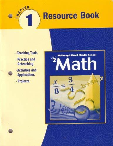 9780618268641: McDougal Littell Middle School Math, Course 2: Resource Book Chapter 1