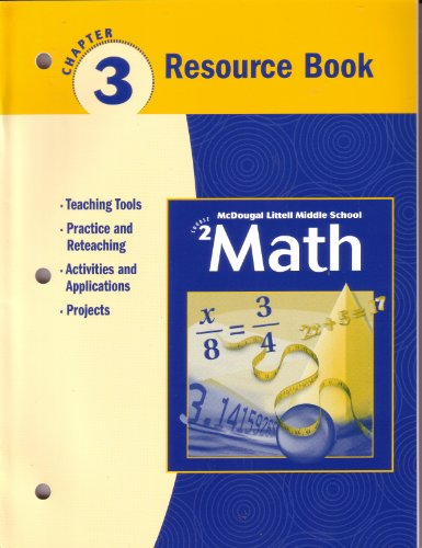9780618268665: McDougal Littell Middle School Math, Course 2: Resource Book Chapter 3