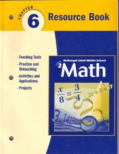 McDougal Littell Middle School Math, Course 2: Resource Book Chapter 6: MCDOUGAL LITTEL