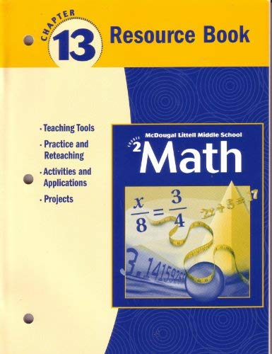McDougal Littell Middle School Math Course 2: Resource Book Chapter 13: Larson. Boswell