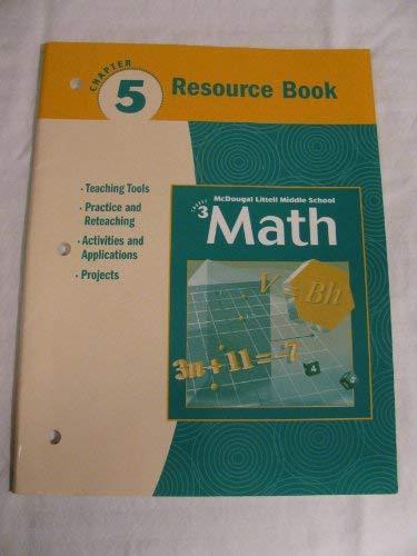 9780618268870: McDougal Littell Middle School Math, Course 3: Resource Book Chapter 5