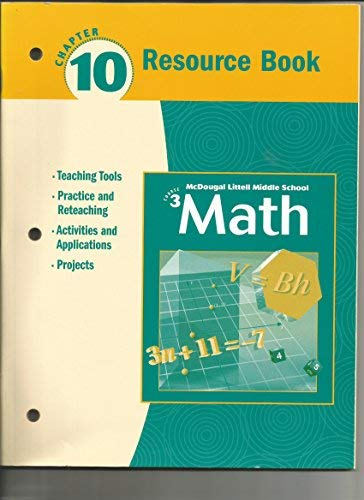 Math 3 Resource Book Chapter 10: Mcdougal Littell