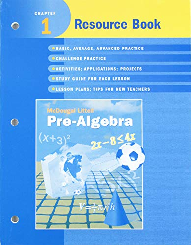 McDougal Littell Pre-Algebra: Resource Book Chapter 1: MCDOUGAL LITTEL
