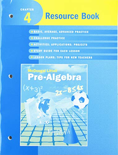 McDougal Littell Pre-Algebra: Resource Book Chapter 4: MCDOUGAL LITTEL
