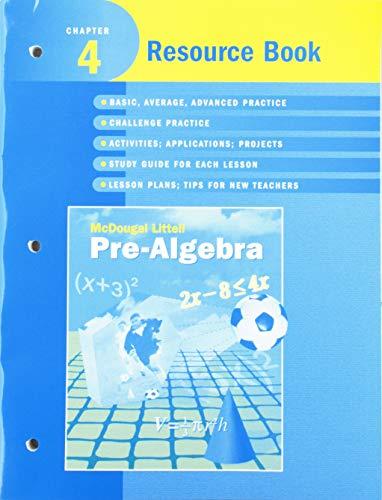 9780618269402: McDougal Littell Pre-Algebra: Resource Book Chapter 4