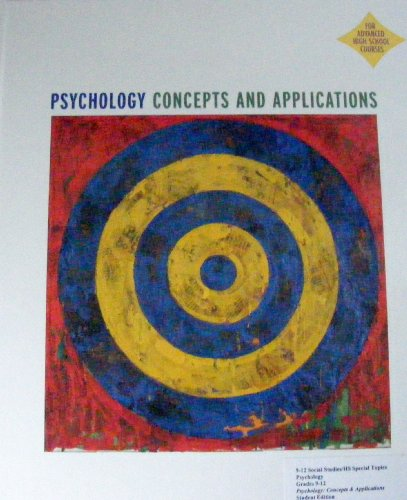9780618270767: Psychology Concepts and Applications