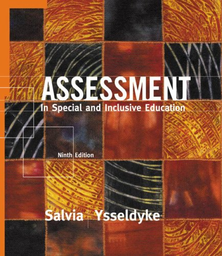 9780618273997: Assessment: In Special and Inclusive Education