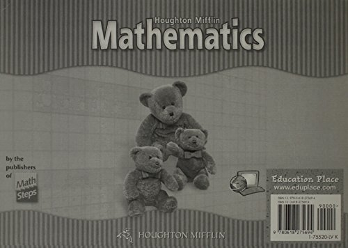 Houghton Mifflin Mathematics: Student Edition Single Sheet Level K 2002: HOUGHTON MIFFLIN
