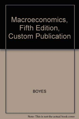 9780618278428: Macroeconomics, Fifth Edition, Custom Publication