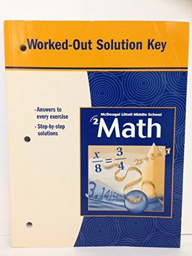 9780618280360: McDougal Littell Middle School Math, Course 2: Worked-Out Solution Key