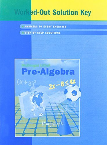 9780618280445: Pre-Algebra (Worked-Out Solution Key)