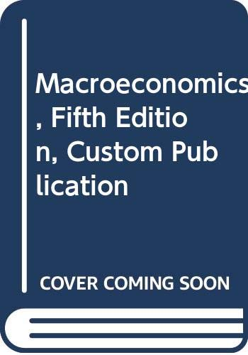 9780618280933: Macroeconomics, Fifth Edition, Custom Publication