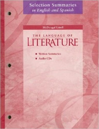9780618289646: McDougal Littell Language of Literature: Selection Summaries in English Audio CD Package Grade 11