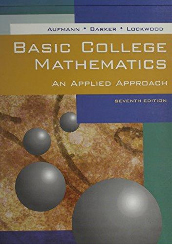 9780618290574: Basic College Math, Seventh Edition, Custom Publication