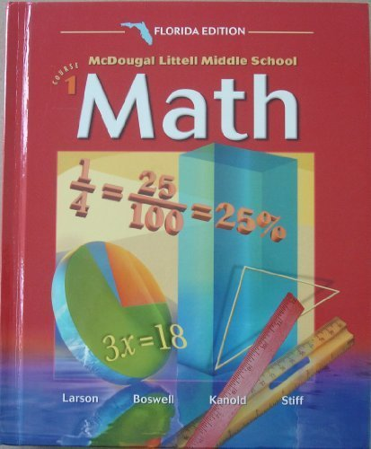 9780618290871: McDougal Littell Middle School Math Florida: Students Edition Course 1 2004