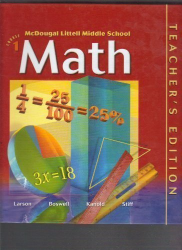 9780618290888: McDougal Littell Middle School Math Florida: Teachers Edition Course 1 2004