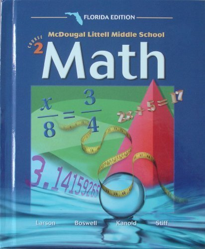 Florida Teacher's Edition Mcdougal Littell Middle Schoo Course 2 Math: MC DOUGALL LITTEL