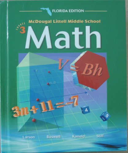 9780618290918: McDougal Littell Middle School Math Florida: Students Edition Course 3 2004