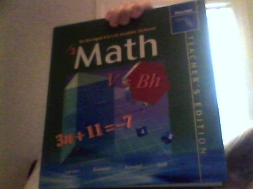 9780618290925: McDougal Littell Middle School Math Florida: Teachers Edition Course 3 2004