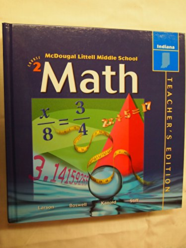 9780618291434: McDougal Littell Middle School Math Indiana: Teachers Edition Course 2 2004