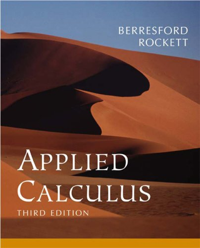 9780618293421: Text: Volume of ...Berresford-Applied Calculus