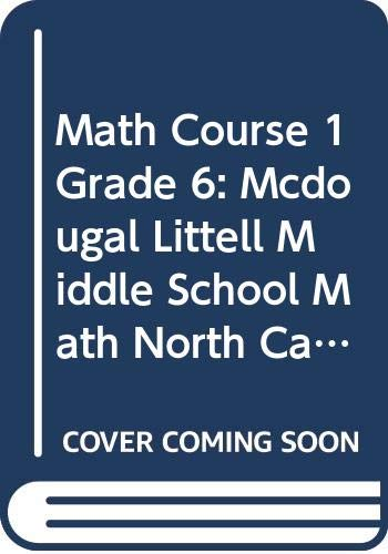9780618293773: McDougal Littell Middle School Math North Carolina: Students Edition Course 1 2004