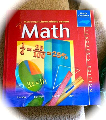 9780618293780: McDougal Littell Middle School Math North Carolina: Teachers Edition Course 1 2004