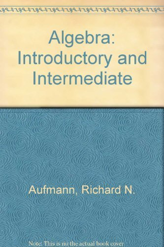 9780618293926: Algebra: Introductory and Intermediate Instructor's Annotated Edition